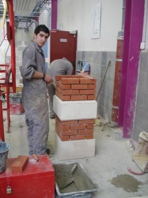 Pilier briques/beton 1er BAC