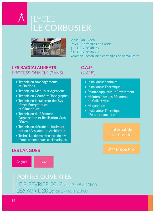Portes ouvertes Lycee Le Corbusier Cormeilles-en-parisis