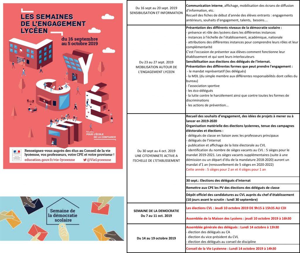 Calendrier Election 2019.Semaines De L Engagement Lycee Le Corbusier